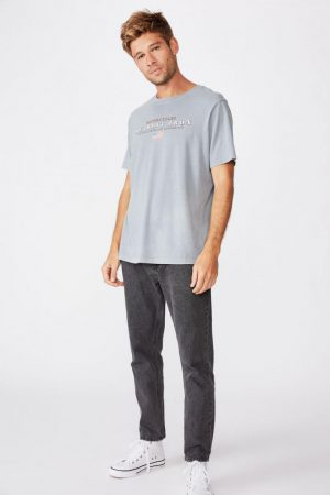 Cotton On Art | Mens Bondi Tee Faded Slate/Detroit Iron