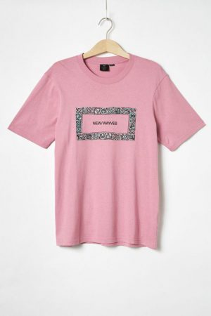 Cotton On Art | Mens Tbar Art T-Shirt Sk8 Faded Fuschia/New Wayves Border