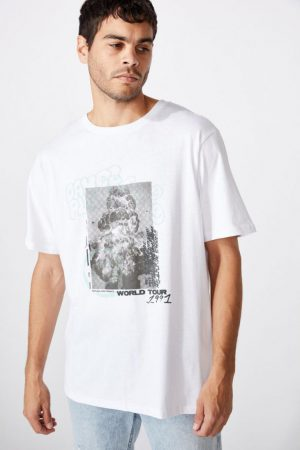 Cotton On Art | Mens Tbar Art T-Shirt Sk8 White/Dance Planet