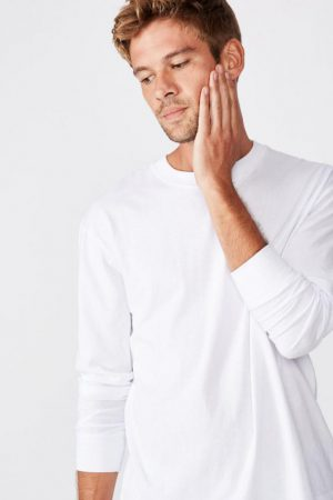 Cotton On Art | Mens Tbar Long Sleeve White