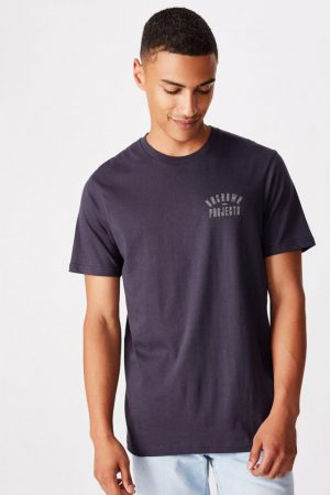 Cotton On Art | Mens Tbar Street T-Shirt True Navy/Unknown Projects