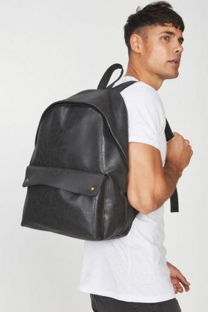 Cotton On Bags | Mens Austin Backpack Black Stud
