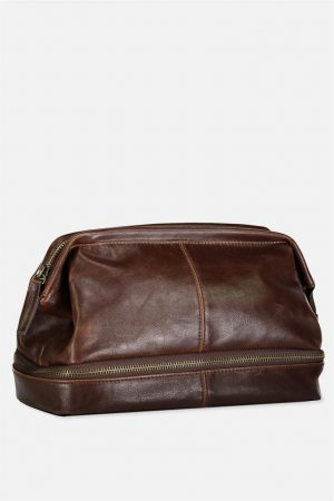 Cotton On Bags | Mens Debonair Wash Bag Rich Tan