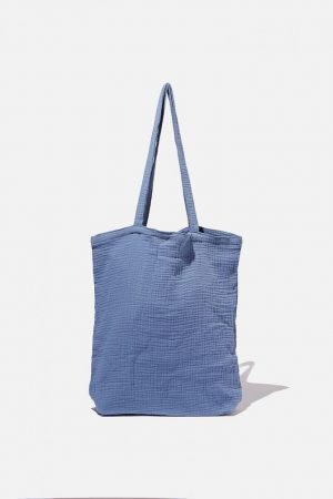 Cotton On Bags | Mens Foundation Fashion Tote Infinity Blue