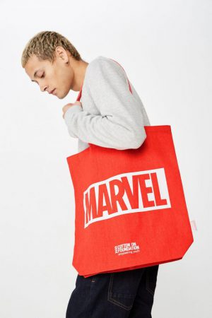 Cotton On Bags | Mens Foundation & Friends Marvel Logo