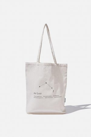 Cotton On Bags | Mens Foundation Online Exclusive Star Sign Tote Aries
