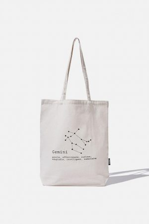 Cotton On Bags | Mens Foundation Online Exclusive Star Sign Tote Gemini