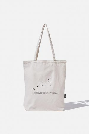 Cotton On Bags | Mens Foundation Online Exclusive Star Sign Tote Leo