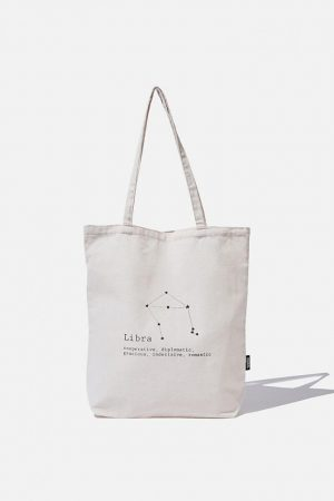 Cotton On Bags | Mens Foundation Online Exclusive Star Sign Tote Libra