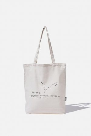 Cotton On Bags   Mens Foundation Online Exclusive Star Sign Tote Pisces