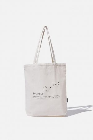 Cotton On Bags | Mens Foundation Online Exclusive Star Sign Tote Scorpio
