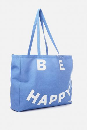 Cotton On Bags | Mens Typo Oversized Tote Be Happy