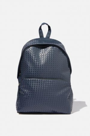 Cotton On Bags | Womens Austin Backpack Navy Weave
