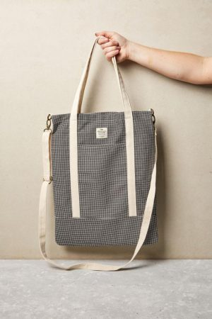 Cotton On Bags | Womens Book Tote Bag Black Grid Check