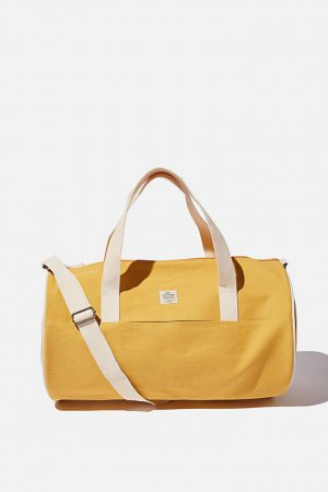 Cotton On Bags | Womens Canvas Barrel Bag Mustard