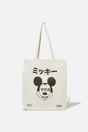 Cotton On Bags | Womens Foundation & Friends Mickey Text