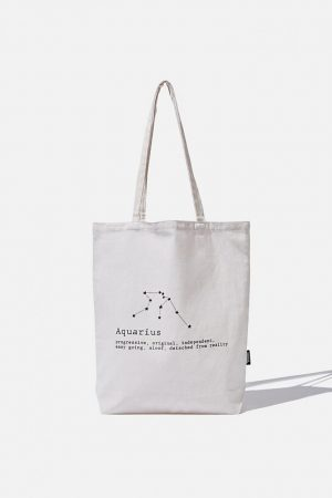 Cotton On Bags | Womens Foundation Online Exclusive Star Sign Tote Aquarius