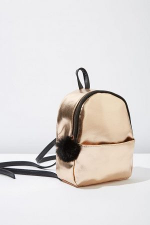 Cotton On Bags | Womens Mini Cairo Backpack Rose Gold Pom Pom
