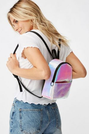 Cotton On Bags | Womens Mini Cairo Backpack Textured Holographic