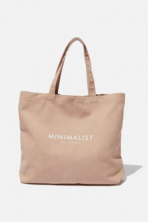 Cotton On Bags | Womens Minimalist Washed Tote Blush