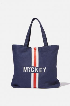 Cotton On Bags | Womens Minimalist Washed Tote Lcn Mickey Navy/Red
