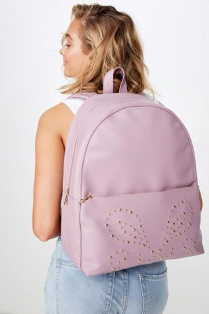 Cotton On Bags | Womens Scholar Backpack Dusty Plum