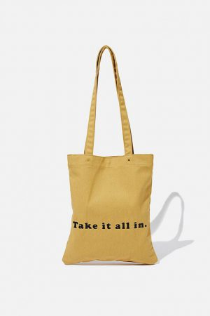 Cotton On Bags | Womens Take It All In Tote Mustard