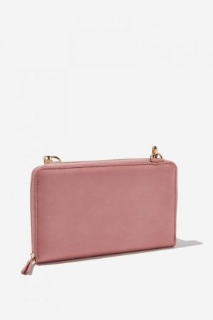 Cotton On Bags | Womens X-Body Travel Wallet Dusty Pink