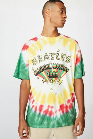 Cotton On Band | Mens Special Edition Tee Lcn App Vintage White/The Beatles Magical Mystery