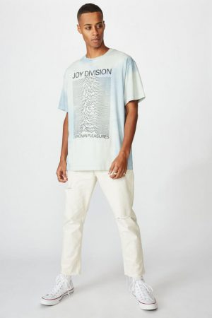 Cotton On Band | Mens Special Edition Tee Lcn Wmg White/Joy Division – Cloud Wash