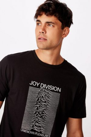 Cotton On Band | Mens Tbar Collab Music T-Shirt Lcn Wmg Black/Joy Division – Unknown Pleasures