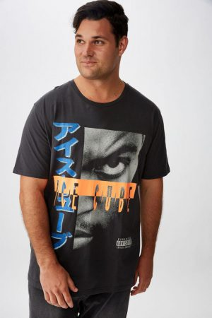 Cotton On Band | Mens Tbar Collab Tee Lcn Mt Faded Slate/Ice Cube – Neon