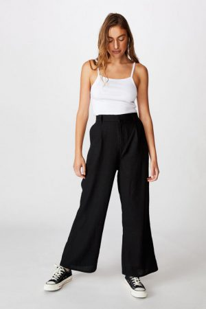 Cotton On Casual Pants | Womens Pleat Front Drapey Pant Black