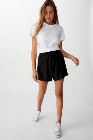 Cotton On Casual | Womens Drapey Longline Short Black