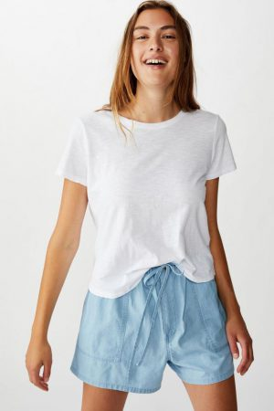 Cotton On Casual | Womens Drapey Longline Short Chambray