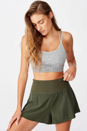 Cotton On Casual | Womens Highwaist Running Short Khaki