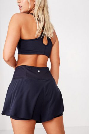 Cotton On Casual | Womens Highwaist Running Short Navy