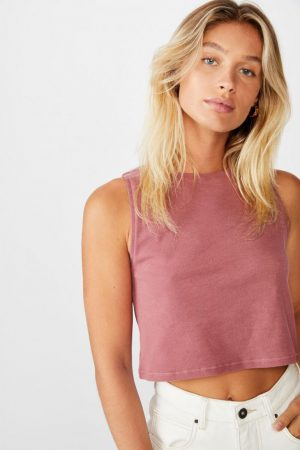 Cotton On Crop | Womens The Weekend Tank Malaga
