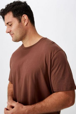 Cotton On Essential Tees | Mens Bg Essential Skate Tee Brunette