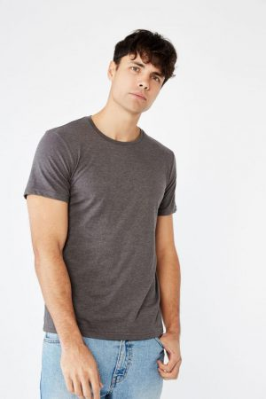 Cotton On Essential Tees | Mens Essential Crew Tee Charcoal Marle