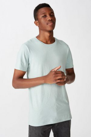 Cotton On Essential Tees | Mens Essential Crew Tee Mist Blue