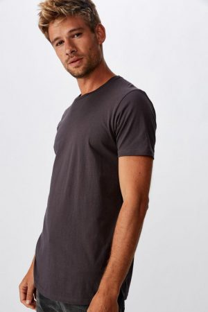 Cotton On Essential Tees | Mens Essential Longline Scoop Tee Faded Slate