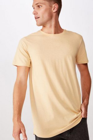 Cotton On Essential Tees | Mens Essential Longline Scoop Tee Sunbleach