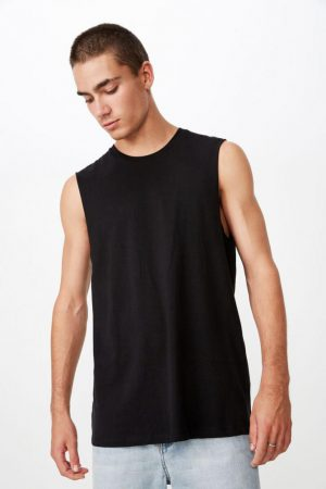 Cotton On Essential Tees | Mens Essential Muscle Black