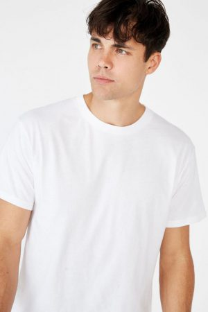 Cotton On Essential Tees | Mens Essential Skate Tee White