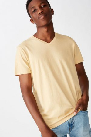 Cotton On Essential Tees | Mens Essential Vee Neck Sun Bleach