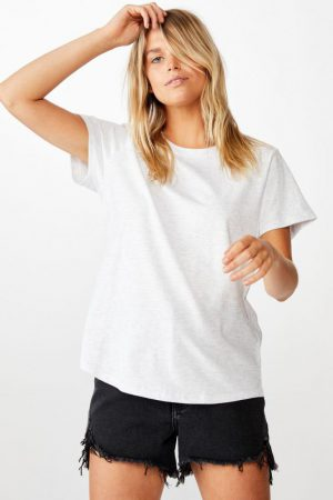 Cotton On Essential Tees | Womens The One Crew Tee Silver Marle