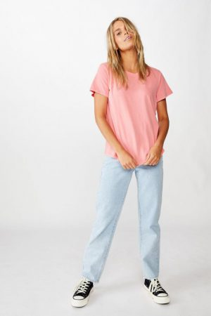 Cotton On Essential Tees | Womens The One Crew Tee Washed Vibrant Rose