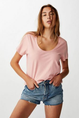 Cotton On Essential Tees | Womens The One Scoop Tee Rose Musk