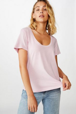 Cotton On Essential Tees | Womens The One Scoop Tee Washed Fragrant Lilac